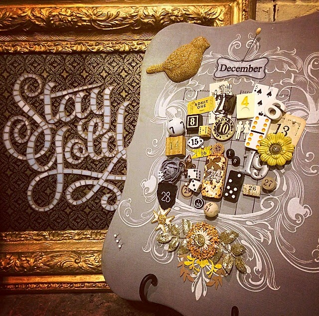 Stay gold gray calendar
